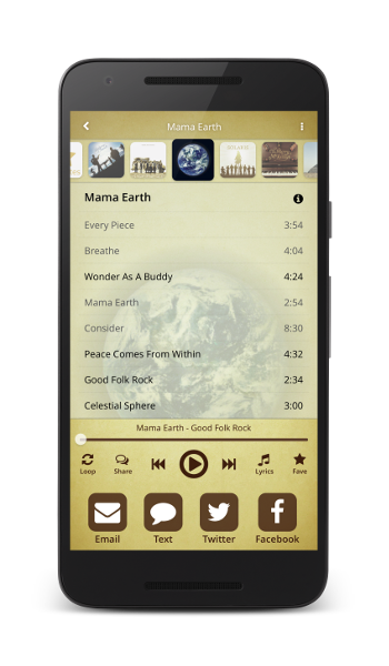 Sharing music with the Solaris Music App