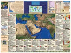 Middle East teaching map - Laminated Wall Chart
